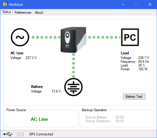 Free UPS monitor and graceful shutdown software for Windows 10